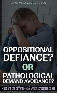 Pathological Demand Avoidance – Symptoms & Parenting Tips Is it ODD? or PDA? What is the difference? A look at the signs of pathological demand avoidance in children, part of autism spectrum disorder, plus positive parenting strategies for PDA. Autism Education, Autism Facts, Special Education, Oppositional Defiance, Oppositional Defiant Disorder Treatment, Pathological Demand Avoidance, Kids Health, Children Health, Musica