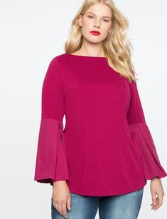 Pleated Sleeve Top from eloquii.com