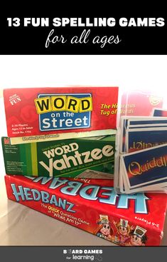 Awesome spelling games for kids and even adults of all ages. Spelling Games For Kids, Spelling Rules, Spelling Practice, Board Games For Kids, Kids Board, Word Games, Educational Board Games, Wedding Reception Games, Word Board