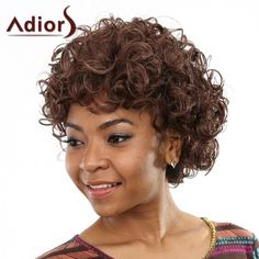 Stunning Fluffy Curly Capless Stylish Short Deep Brown Women's Synthetic Wig #jewelry, #women, #men, #hats, #watches, #belts, #fashion