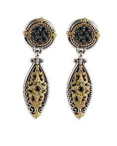 Konstantino Asteri Pave Black Diamond & Onyx Double-Drop Earrings GtjSR5