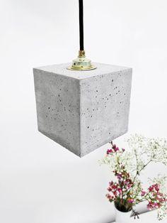Lampe béton B1 or carré souvent minimaliste Design par GANTlights