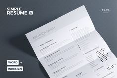 Clean Resume/Cv Vol. 7 by The Resume Creator on One Page Resume Template, Simple Resume Template, Resume Design Template, Creative Resume Templates, Cover Letter Template, Letter Templates, Resume Writing Tips, Resume Tips, Resume Examples