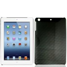 Black Carbon Fiber Hard Case Snap On Cover For Apple iPad Mini