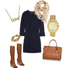 navy sweater dress. A must have for the winter!