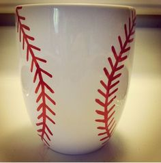 My twist on the Sharpie Mug trend for my guy this Valentine's Day. Homemade with love! sports mugs #sports