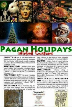 "I am Christian, but isn't strange that it's okay to observe Easter and Christmas, but SO many churches won't celebrate Halloween because it is an ""evil pagan"" holiday! But, history reveals that us ""Holiday-observing Christians"" aren't so ""Christian"" after all! We are just continuing to practice pagan traditions that Constantine simply slapped a Christian ""sticker"" on!"