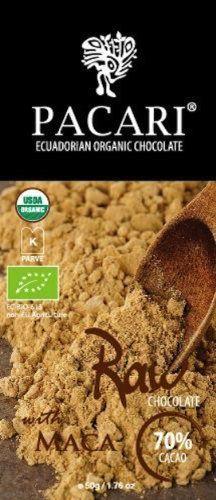 Pacari Ecuadorian Organic Raw Chocolate, 50-Gram (Pack of 5)