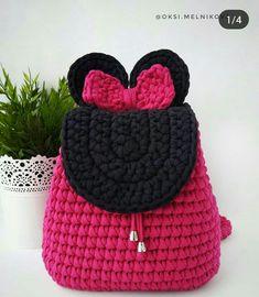 Crochet Backpack Pattern, Octopus Crochet Pattern, Free Crochet Bag, Crochet Market Bag, Crochet Flower Patterns, Cute Crochet, Crochet Motif, Crochet Crafts, Crochet Yarn