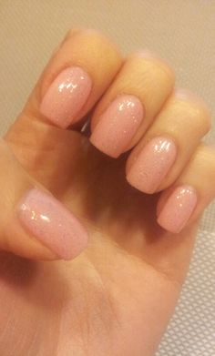 Nails glitter pink