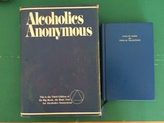 Lot 2 Vintage AA Books Blue Book 3D HCDJ Alcoholics Anonymous 12 Step Recovery | eBay