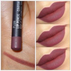 """How gorgeous MAC Plum Lipliner all over the lips. (Might be a bit drying, so apply a lip balm for few minutes then wipe it off and apply the lipliner) -…"""