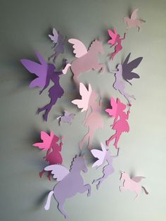 Hey, I found this really awesome Etsy listing at https://www.etsy.com/listing/225215745/unicorn-and-fairy-wall-decor-3d-unicorn
