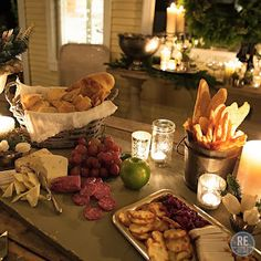 A Rustic Italian Christmas - Wine and Cheese Party