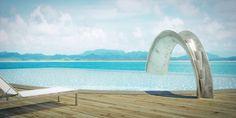 Image having this slide for your hotel pool. Sleek, Sculptural Water Slides for the Modern Pool - Design Milk