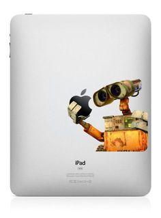 Wall E  - iPad Decal iPad Stickers iPad Decals Apple Decal for Macbook Pro / Macbook Air / iPad / iPad2 / The new iPad. $8.60, via Etsy.
