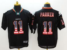 Miami Dolphins #11 DeVante Parker Black USA Flag Fashion Men's NFL Nike Elite Jersey