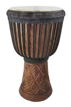 A Drumskull drums Djembe made from Khadi wood from Guinea.