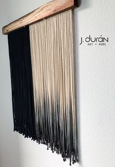 Yarn Wall Art, Yarn Wall Hanging, 3d Wall Art, Macrame Wall Hanging Patterns, Macrame Patterns, Boho Chic Living Room, Cloud Lights, Macrame Projects, Black Decor