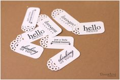 How to make labels with your border punch. Many techniques on this blog!