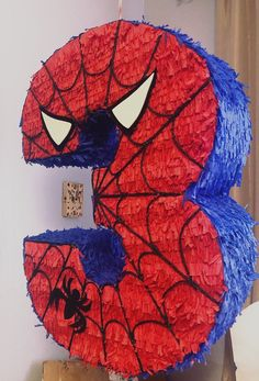 Spiderman piñata number 3 made of recycled cardboard, made by hand. does not include candy Does not include piñata stick Available numbers 1 2 3 4 5 6 7 8 9 Ninja Birthday Parties, Superhero Birthday Party, Avengers Birthday, Spider Man Party, Baby Spiderman, Spiderman Theme, Superhero Party Decorations, Birthday Party Decorations, Birthday Girl Pictures