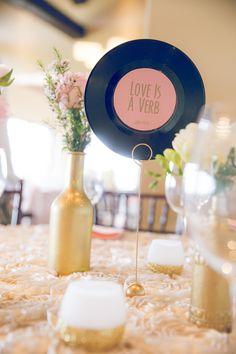 Records as table decor