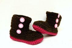 Custom Crochet Baby Booties