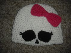 Monster High crochet beanie hat.....not available......use for idea