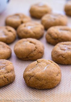 Best-ever Gingersnap Molasses Cookies. Soft-baked, thick, and super chewy. The best! Visit Us To Know Delicious Cookie Recipes, Yummy Cookies, Sweet Recipes, Dessert Recipes, Yummy Food, Cookies Soft, Crazy Cookies, Holiday Baking, Christmas Baking