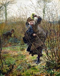 Spring by Frederick Walker (circa 1864). Victoria and Albert Museum.