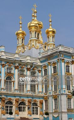 View of the onion domes of the Church of the Resurrection,... #krasnoyeselo: View of the onion domes of the Church of the… #krasnoyeselo