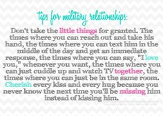 Tip for Military Relationships Usmc Love, Marine Love, Military Love, Military Spouse, Military Deployment, Army Quotes, Military Quotes, Army Sayings, Proud Army Girlfriend