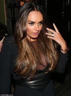 Newly-engaged Tamara Ecclestone has been switching between a pear-shaped diamond and a jagged cut jewel