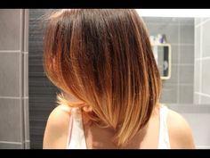 Réaliser soi-même son Tie & dye ou Ombré Hair (démonstration) - YouTube
