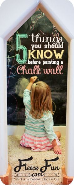 How to paint a chalkboard wall. 5 easy tips that your should know BEFORE your paint!