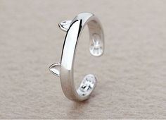 Free-Silver Plated Cat Ear Ring Design  http://givecatsabetterlife.com/product/silver-plated-cat-ear-ring-design/   Free ! Pay Just For Shipping-For Limited Time