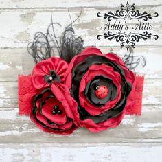 Baby Headband..Ladybug Headband..Red by AddysAtticOnEtsy on Etsy, $20.00