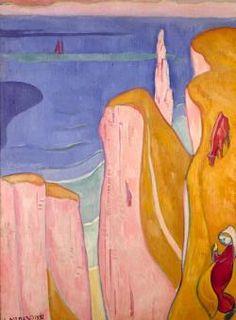 Emile BERNARD les falaises d'yport 1892