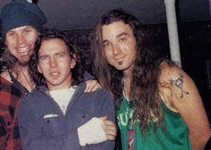 Jeff Ament, Eddie Vedder and Dave Abbruzzese