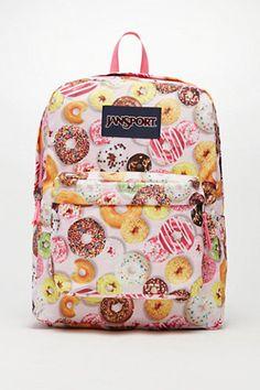 JanSport SuperBreak Donuts School Backpack - Womens Backpack - Multi - One from PacSun. Saved to Back to school stuff. Mochila Jansport, Jansport Superbreak Backpack, Cute Backpacks, School Backpacks, Teen Backpacks, Leather Backpacks, Rucksack Bag, Backpack Bags, Messenger Bags