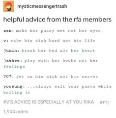 Advice from the RFA
