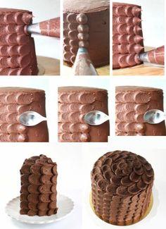 как красиво украсить торт фото
