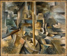 Georges Braque - Harbor  I like the work of braque as it is deeply textured and shows obvious layers