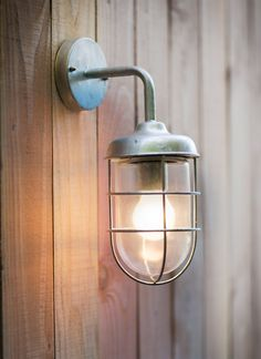 Stylish and weatherproof hot dipped galvanised outdoor light