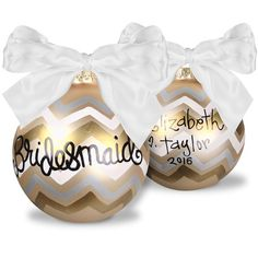 Bridesmaid Glass Christmas Ornament