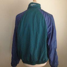 Image of VINTAGE REEBOK TRACK JACKET M Denim Button Up, Button Up Shirts, Vintage Windbreaker, Reebok, Track, Swimwear, Jackets, Image, Tops
