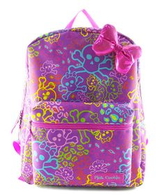 Take a look at the Pink Cookie Skull Backpack on #zulily today!