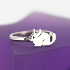 Sterling Silver Chinchilla Ring - Stacking Ring - Chinchilla Jewellery - Chinchilla Gifts by JewelleryFurKeeps on Etsy https://www.etsy.com/listing/465084510/sterling-silver-chinchilla-ring-stacking