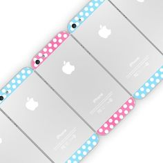 Polka Dot Top Bottom Glass Back Housing Cover For iPhone / Make your personality and iPhone bright and lively with these top and bottom blue polka dot glass back covers. http://thegadgetflow.com/portfolio/polka-dot-top-bottom-glass-back-housing-cover-iphone-5/