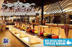 La Fiesta - Largest Filipino Buffet SM MOA: Unlimited Delectable Filipino Dishes & Drinks for P446 instead of P638! Get yours now at www.MetroDeal.com!